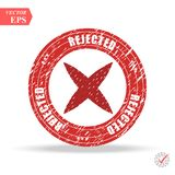 Rejected. stamp. red round grunge vintage rejected sign. Eps Stock Images
