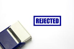 Rejected stamp stock image