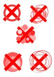 Rejected symbols -  Stock Image