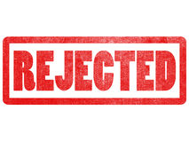 Rejected text sign label stamp. Stock Image