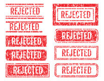 Rejected Word Rubber Stamps Grunge Style Set Stock Photography
