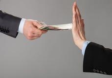 Rejecting money Stock Photos
