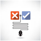 Rejection and approval concept. The best choice icons. Royalty Free Stock Image