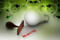 Rejection concept. In color background Royalty Free Stock Image