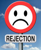 Rejection not approved Stock Images