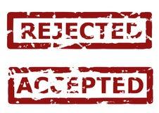Rejeitado e aceitado ilustração do vetor