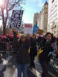 Rejestr Wyborczy, kobiety ` s Marzec, NYC, NY, usa Fotografia Royalty Free
