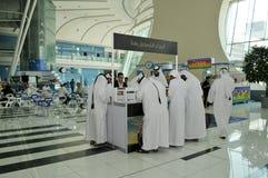 Rejestracja - Abu Dhabi Międzynarodowy polowanie i Equestrian wystawa (ADIHEX) Fotografia Stock