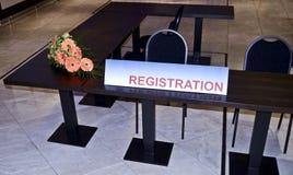 Rejestracyjny budka znak zdjęcie royalty free