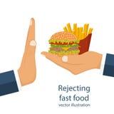 Rejet de la nourriture industrielle offerte Images libres de droits