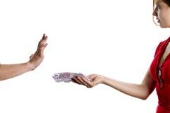 rejet de paiement illicite Images stock
