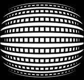 Rejilla abstracta con efecto convexo, esférico de la deformación ilustración del vector
