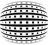 Rejilla abstracta con efecto convexo, esférico de la deformación stock de ilustración