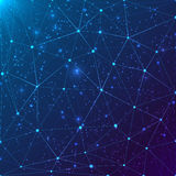 Rejilla abstracta del triángulo en fondo cósmico Foto de archivo libre de regalías