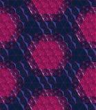 Rejilla abstracta roja inconsútil en una representación polivinílica baja del fondo 3d de la reflexión azul Foto de archivo