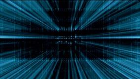 Rejilla azul del AI de la inteligencia artificial de Tron con el fondo de los rayos ligeros libre illustration