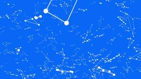 Rejilla 3D o malla que agita azul simple abstracta como paisaje de la ciencia ficción Ambiente vibrante geométrico azul o matemát metrajes