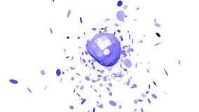 Rejilla 3D o malla que agita violeta abstracta de objetos geométricos que pulsan Uso como estructura abstracta del átomo Geométri almacen de video