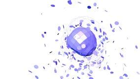 Rejilla 3D o malla que agita violeta abstracta de objetos geométricos que pulsan Uso como fondo abstracto de la ciencia ficción v metrajes