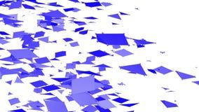 Rejilla 3D o malla que agita violeta simple abstracta como ambiente cibernético Ambiente vibrante geométrico violeta o almacen de video
