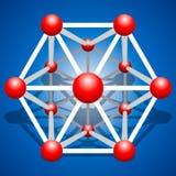 Rejilla de la molécula del vector en fondo Imágenes de archivo libres de regalías