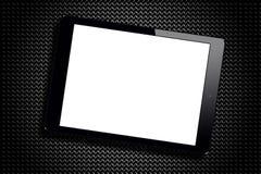 Rejilla de la PC de la tableta del negro de la pantalla en blanco metálica Fotografía de archivo