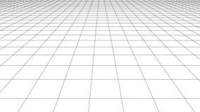 Rejilla de la perspectiva del vector con las l?neas detalladas stock de ilustración