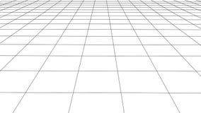 Rejilla de la perspectiva del vector con las l?neas detalladas ilustración del vector