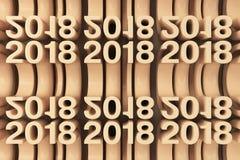 Rejilla de las nuevas figuras anaranjadas de 2018 años Fotografía de archivo libre de regalías