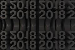 Rejilla de las nuevas figuras negras de 2018 años Foto de archivo libre de regalías