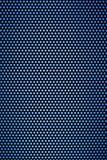 Rejilla del calabozo con los agujeros azules claros Imágenes de archivo libres de regalías
