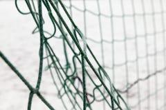 Rejilla del fútbol de la puerta, invierno Fotos de archivo libres de regalías