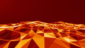 Rejilla del fondo 3d Wireframe futurista de la red del alambre de la tecnología del Ai Inteligencia artificial Fondo cibernético  Fotografía de archivo