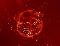 Rejilla del fondo 3d Wireframe futurista de la red del alambre de la tecnología del Ai Inteligencia artificial Fondo cibernético  Imagen de archivo