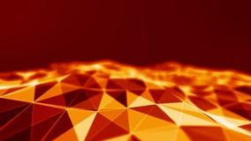 Rejilla del fondo 3d Wireframe futurista de la red del alambre de la tecnología del Ai Inteligencia artificial Fondo cibernético  Fotos de archivo libres de regalías