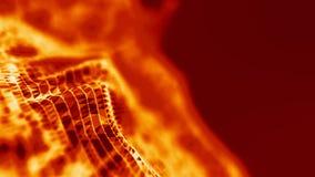 Rejilla del fondo 3d Wireframe futurista de la red del alambre de la tecnología del Ai Inteligencia artificial Fondo cibernético  Foto de archivo