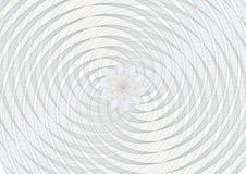 Rejilla del fondo del espiral del vector del guilloquis con un rosetón en el ce Fotografía de archivo libre de regalías