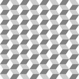 Rejilla del fondo monocromático inconsútil de los hexágonos stock de ilustración