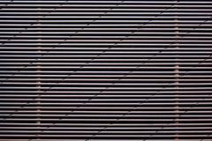 Rejilla del metal con las lineas horizontales fotografía de archivo