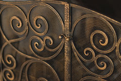 Rejilla del metal de la chimenea Foto de archivo