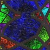 Rejilla del metal del vidrio manchado del extracto Fotografía de archivo libre de regalías