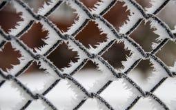 Rejilla helada del metal Fotografía de archivo