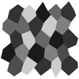 Rejilla irregular blanco y negro Imagen de archivo libre de regalías