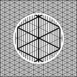 Rejilla isométrica detallada para crear las imágenes volumétricas para los juegos ilustración del vector
