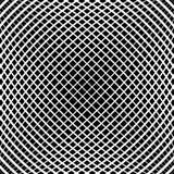 Rejilla, modelo de la malla con efecto convexo leve Abst cuadrado del formato ilustración del vector