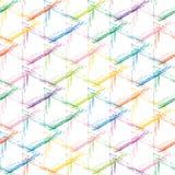 Rejilla multicolora del grunge en un fondo blanco Imágenes de archivo libres de regalías