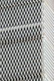 Rejilla ondulada blanco del metal foto de archivo