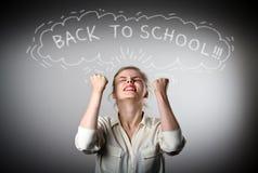 rejoicing πίσω σχολείο έννοιας Στοκ Εικόνες