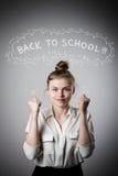 rejoicing πίσω σχολείο έννοιας Στοκ φωτογραφίες με δικαίωμα ελεύθερης χρήσης