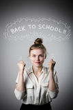 Rejoicing. Back to school concept. Royalty Free Stock Photos